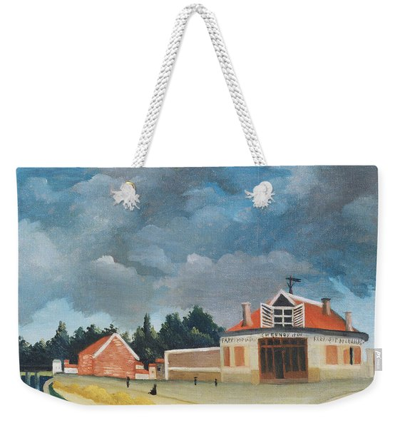 The Chair Factory At Alfortville, C.1897 Oil On Canvas Also See 309518 Weekender Tote Bag