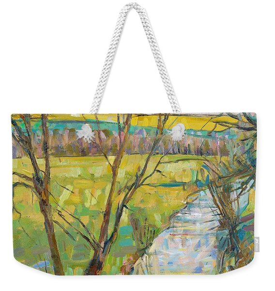 The Cherwell From Rousham II Oil On Canvas Weekender Tote Bag