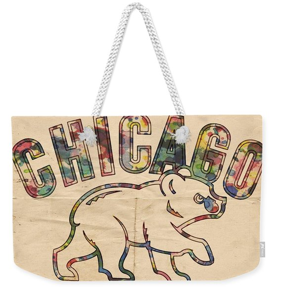The Chicago Cubs Weekender Tote Bag