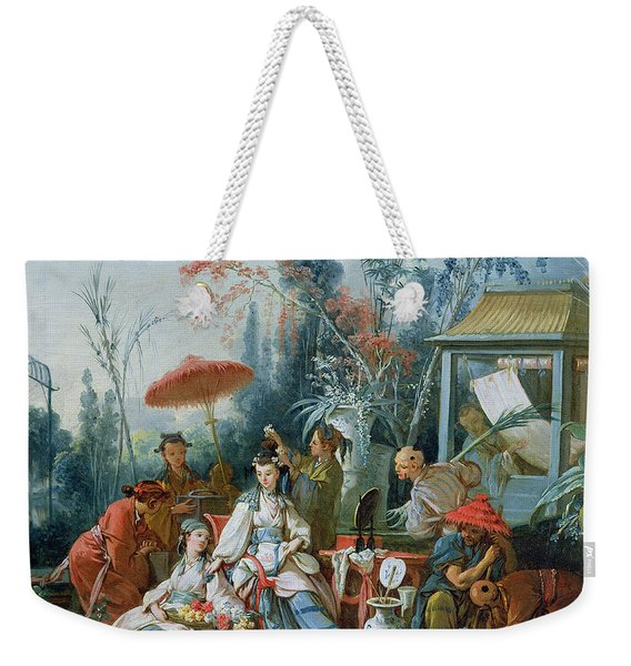 The Chinese Garden, C.1742 Oil On Canvas Weekender Tote Bag