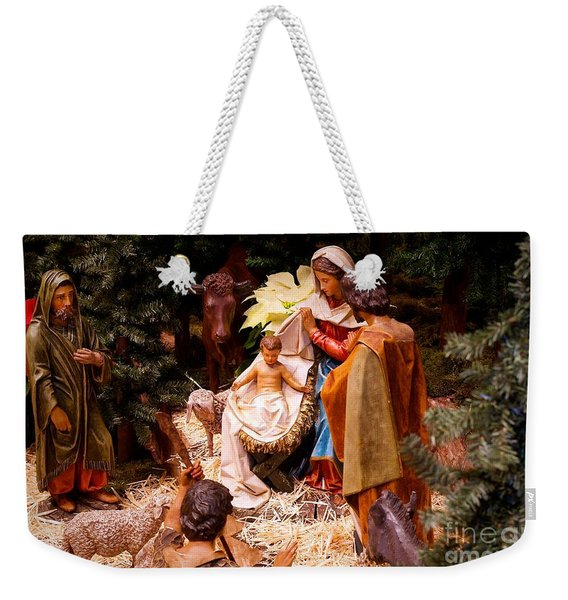The Christmas Creche At Holy Name Cathedral - Chicago Weekender Tote Bag