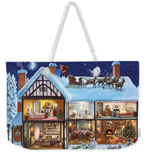 Christmas House Weekender Tote Bag