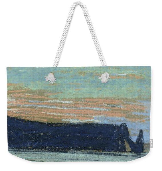 The Cliff At Etretat, C.1885 Pastel Weekender Tote Bag