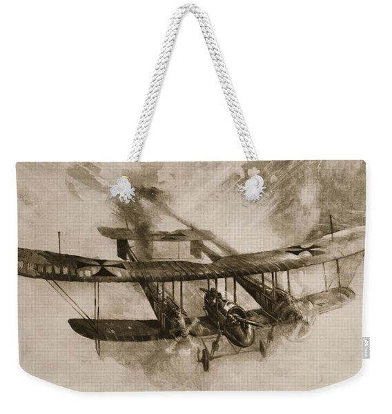 German Biplane From The First World War Weekender Tote Bag
