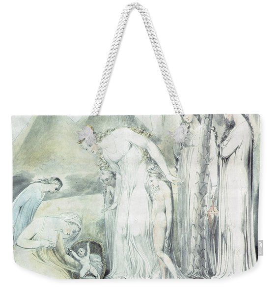 The Compassion Of Pharaohs Daughter Or The Finding Of Moses Weekender Tote Bag