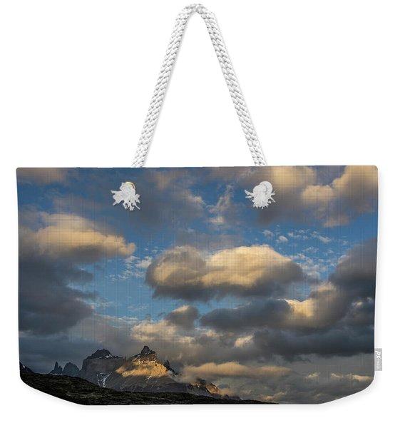 The Cordillera Paine Mountain In Torres Weekender Tote Bag
