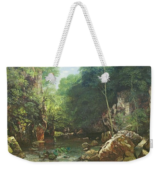 The Covered Stream, Or The Dark Stream, 1865 Oil On Canvas Weekender Tote Bag
