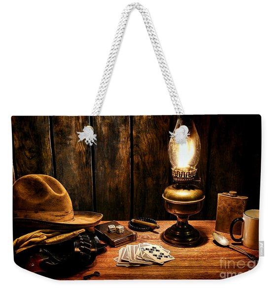 The Cowboy Nightstand Weekender Tote Bag