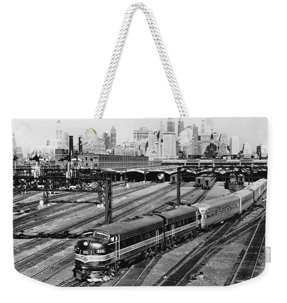 The Crusader Streamliner Train Weekender Tote Bag