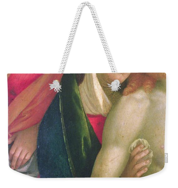The Dead Christ With The Virgin And Saints Weekender Tote Bag