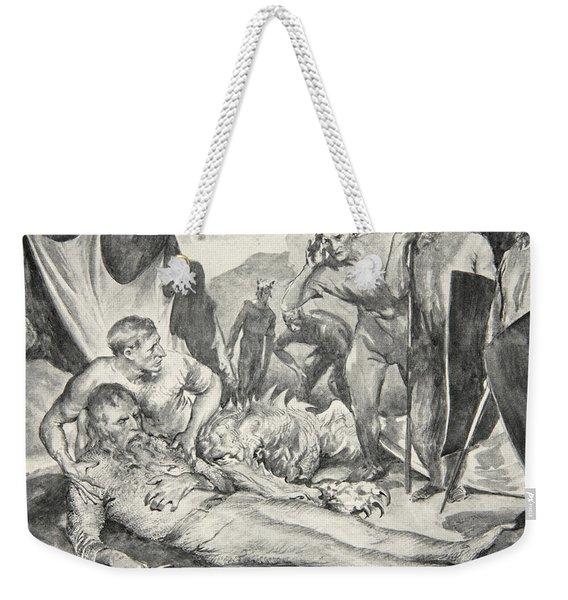 The Death Of Beowulf Weekender Tote Bag