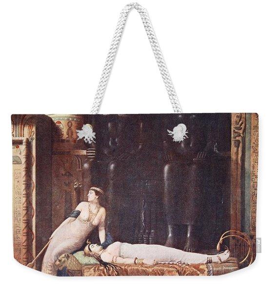 The Death Of Cleopatra, Illustration Weekender Tote Bag