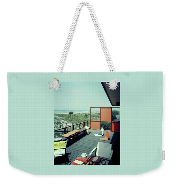 The Deck Of A Beach House Weekender Tote Bag