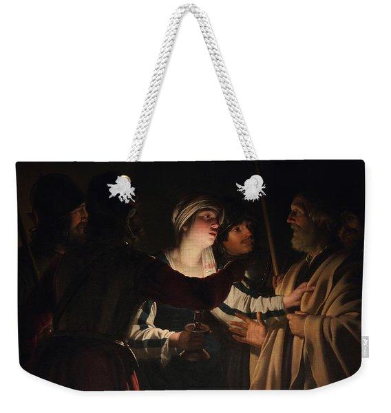 The Denial Of Saint Peter Weekender Tote Bag
