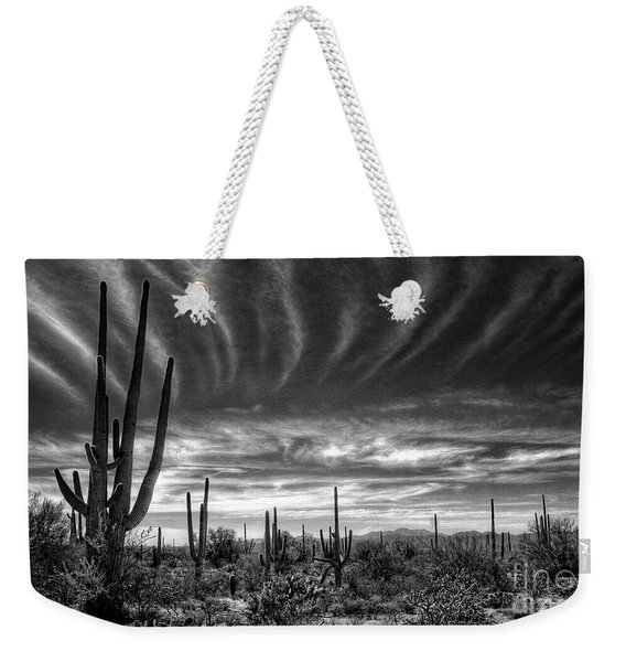 The Desert In Black And White Weekender Tote Bag