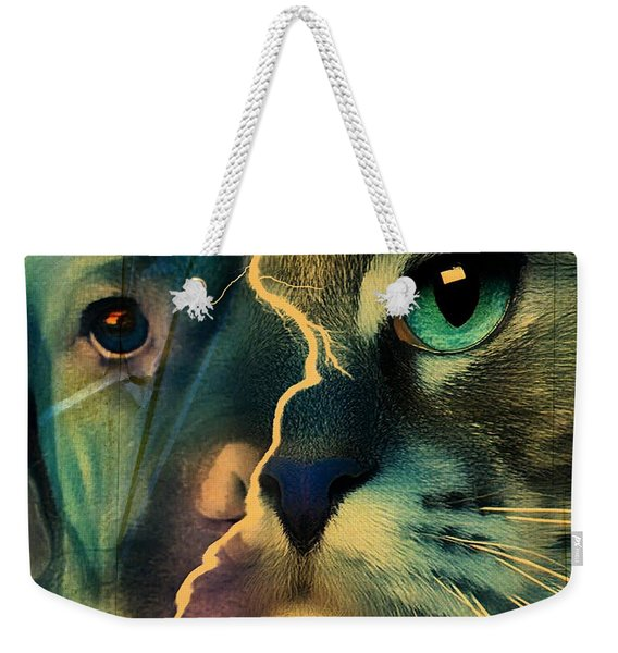 The Dog Connection -green Weekender Tote Bag