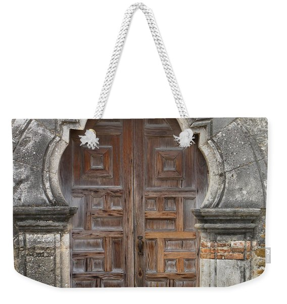 The Door Of Espada Mission  Weekender Tote Bag