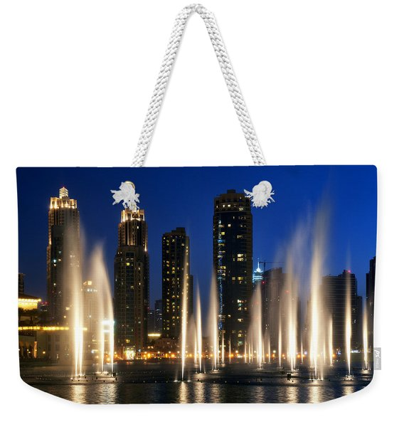 The Dubai Fountains Weekender Tote Bag