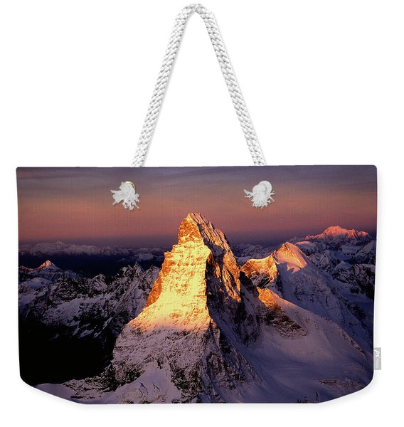 The East Side Of The Matterhorn Weekender Tote Bag