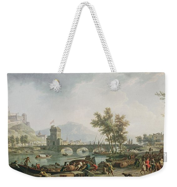 The Edge Of A Fair Les Abords Dune Foire, 1774 Oil On Canvas See Also 13025 Weekender Tote Bag