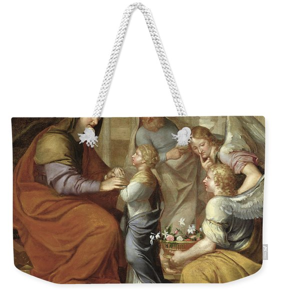 The Education Of The Virgin, 1658 Oil On Canvas Weekender Tote Bag