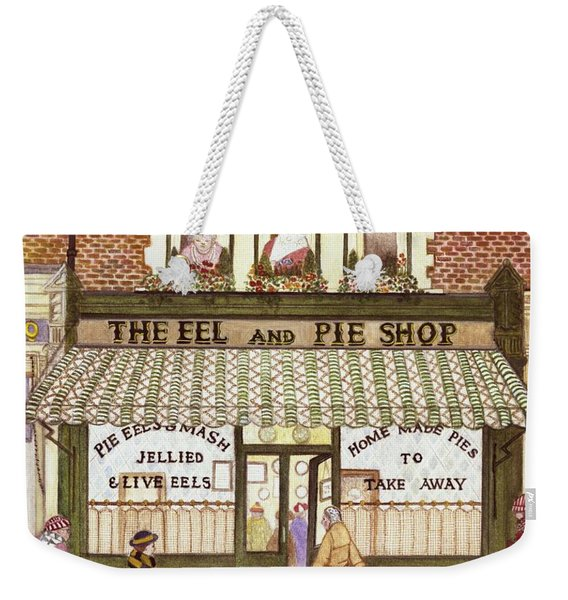 The Eel And Pie Shop, 1989 Watercolour On Paper Weekender Tote Bag