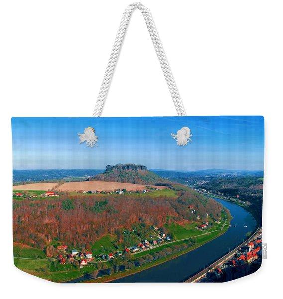 The Elbe Around The Lilienstein Weekender Tote Bag
