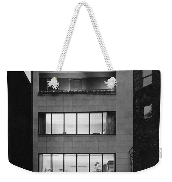 The Exterior Of A Modern Townhouse Weekender Tote Bag