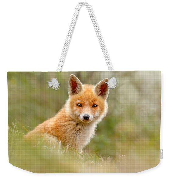 The Face Of Innocence _ Red Fox Kit Weekender Tote Bag