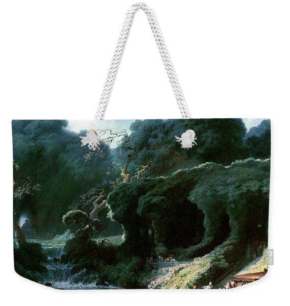 The Fete At Rambouillet Or, The Island Of Love, C.1770 Oil On Canvas Weekender Tote Bag