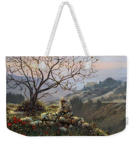 The Fig Tree   Mt Carmel Weekender Tote Bag