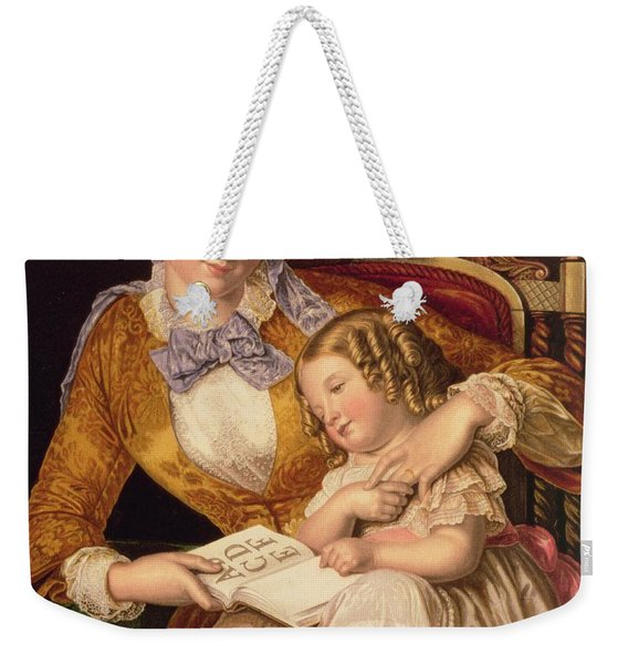 The First Lesson Weekender Tote Bag