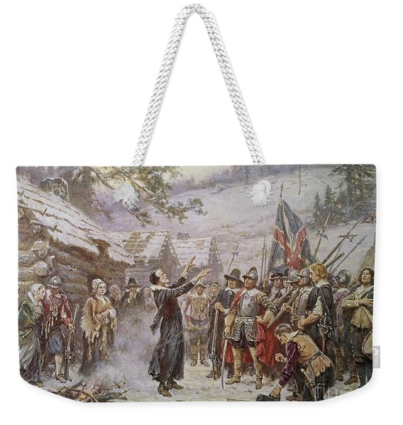 The First Sermon Ashore Weekender Tote Bag