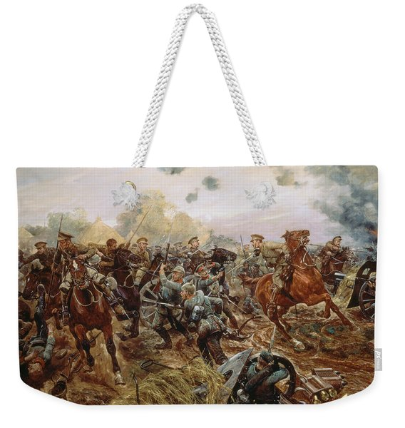 The First Vc Of The European War, 1914 Weekender Tote Bag
