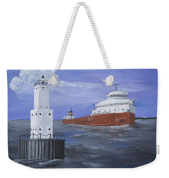 The Fitz Departs Escanaba Weekender Tote Bag