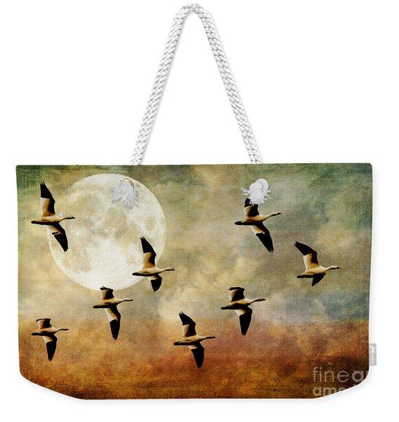 The Flight Of The Snow Geese Weekender Tote Bag