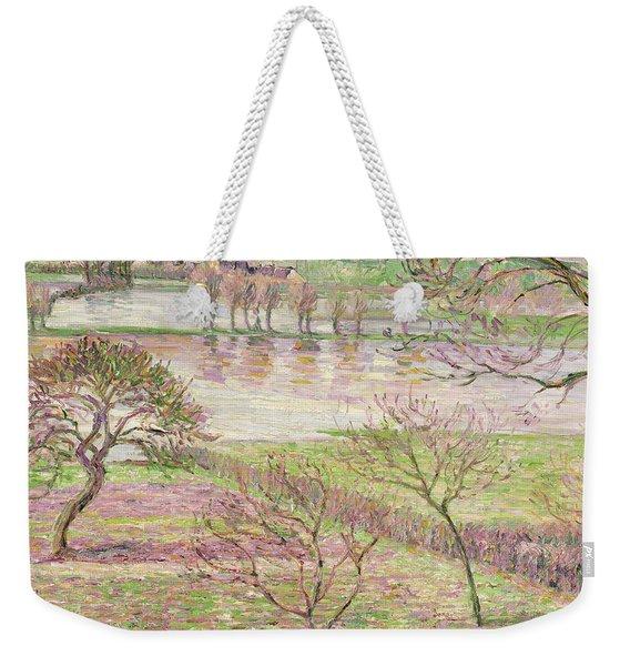 The Flood At Eragny Weekender Tote Bag