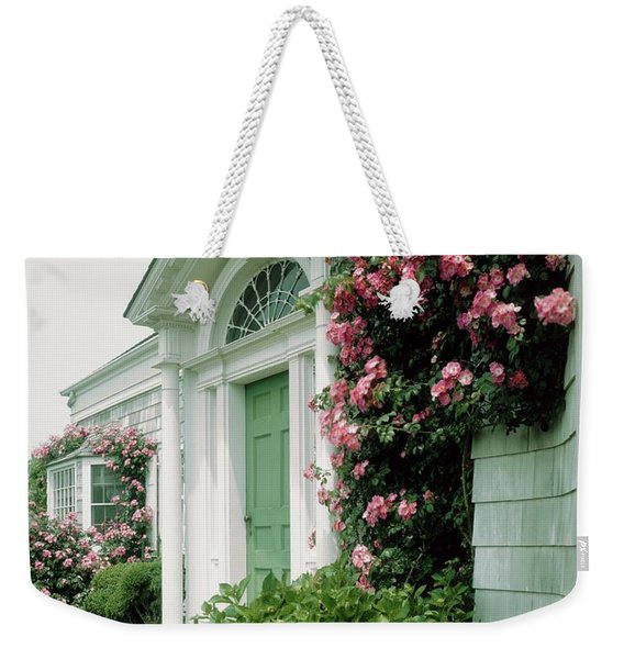 The Front Of Mr. And Mrs. A Stuart Waler's Home Weekender Tote Bag