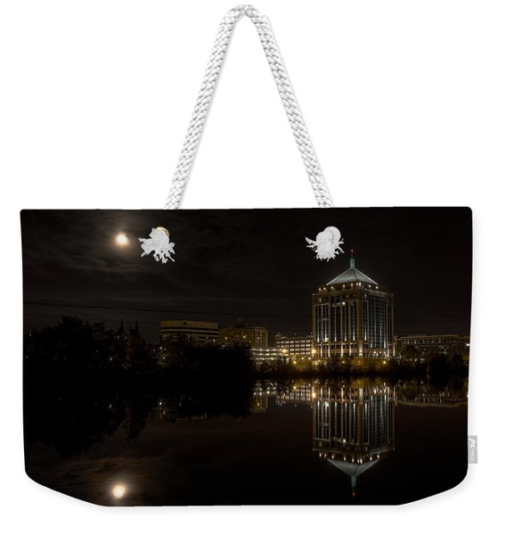 The Full Moon Over The Dudley Tower Weekender Tote Bag