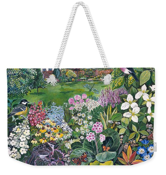 The Garden With Birds And Butterflies Weekender Tote Bag