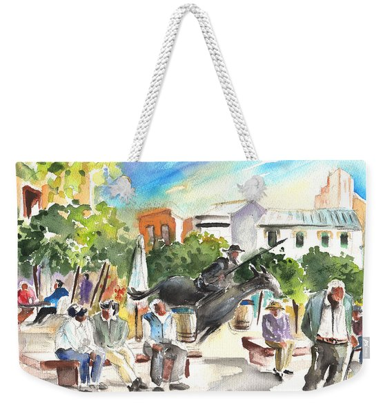 The Ghost Of Don Quijote In Alcazar De San Juan Weekender Tote Bag
