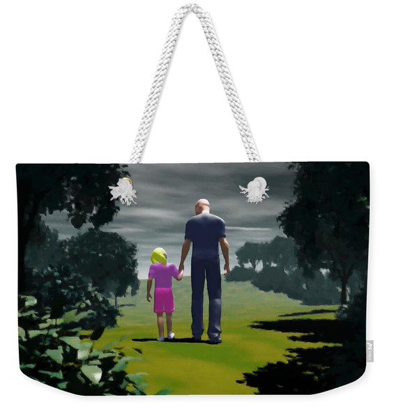 The Gift Of Being 'daddy' Weekender Tote Bag