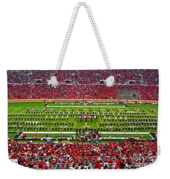 Weekender Tote Bag featuring the photograph The Going Band From Raiderland by Mae Wertz
