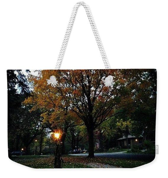 Illuminating Autumn Weekender Tote Bag