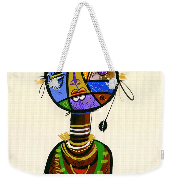 The Good Face Of Colours, 2013 Mixed Media On Card Weekender Tote Bag