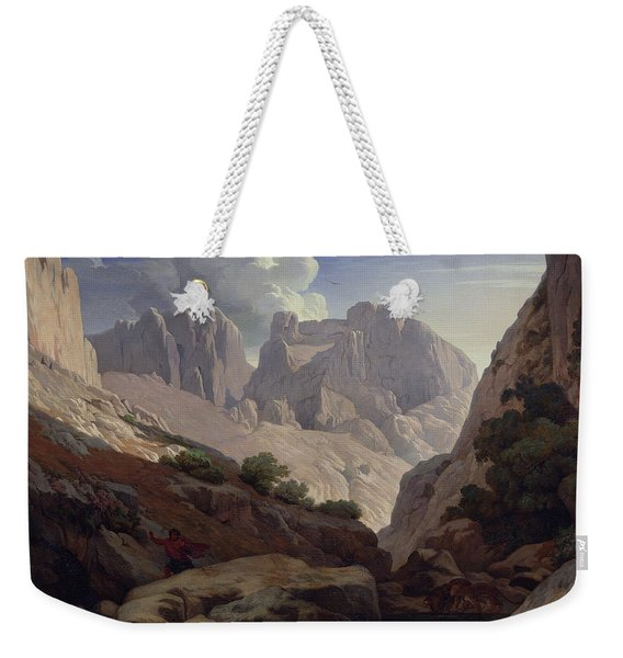 The Gorges Of Atlas, 1843 Oil On Canvas Weekender Tote Bag