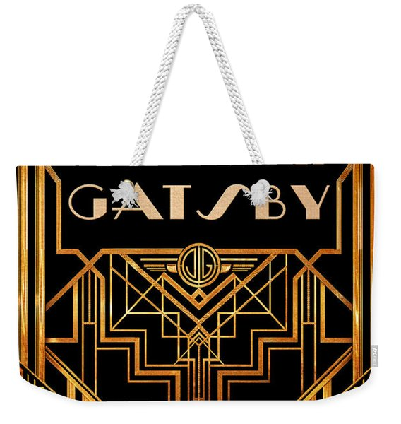The Great Gatsby Book Cover Movie Poster Art 3 Weekender Tote Bag