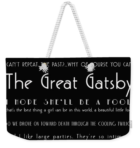 The Great Gatsby Quotes Weekender Tote Bag