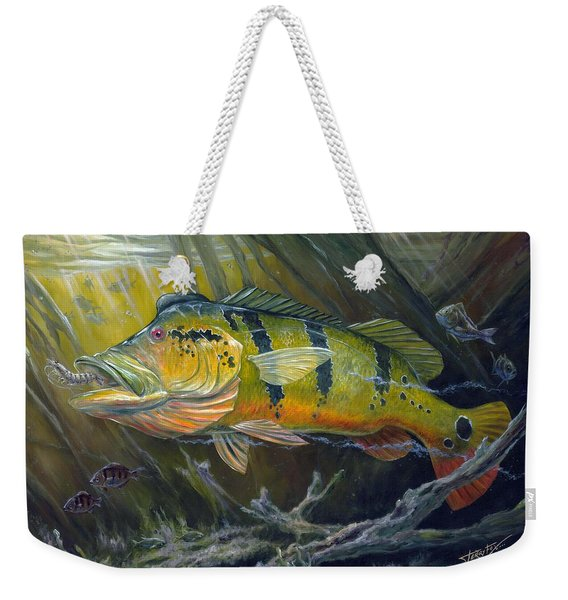 The Great Peacock Bass Weekender Tote Bag
