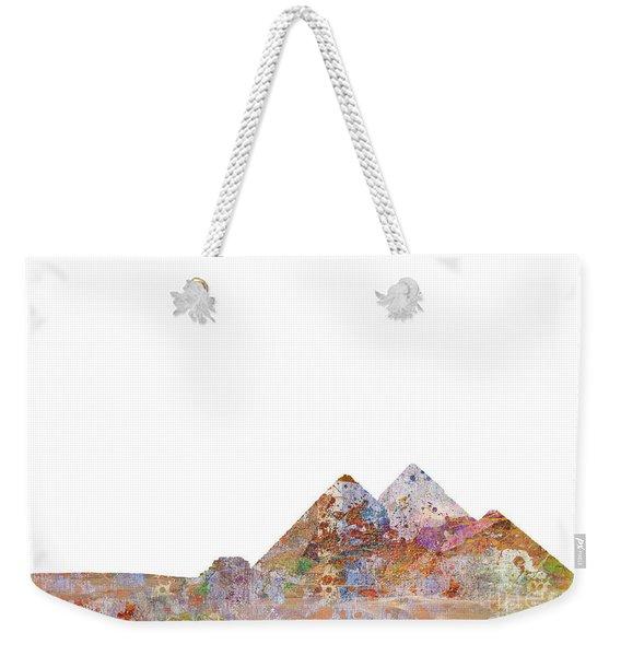 The Great Pyramids Colorsplash Weekender Tote Bag